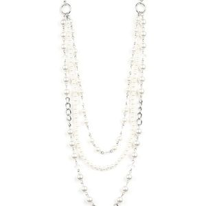 paparazzi Jewelry - New York City Chic Silver Pearl Necklace Set New